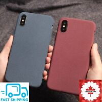New Fashion Frosted Silicone Case For iPhone X XS Max XR 8 7 Plus TPU Soft Case