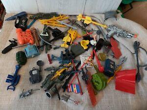 vintage weapons accessories lot, 80s toys, gi joe , TMNT, etc