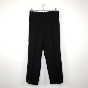 Womens BASSINI Casual Formal Black Trousers With Stretch Size UK 14 BNWT