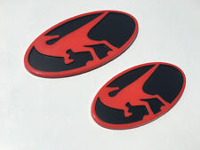 Raptor Emblems for Hyundai Veloster & Veloster Turbo All Years Front & Rear Red