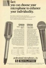 1978 Shure SM59 & SM58 dynamic cardioid microphones - Vintage Ad