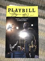 2018 CAROUSEL SIGNED BROADWAY PLAYBILL LINDSEY MENDEZ AND RENEE FLEMING
