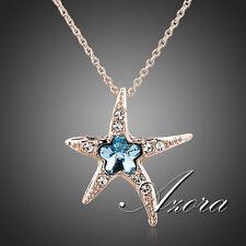NEU AZORA Anhänger Seestern Blue Wintersweet + Stellux Crystals + Halskette,007