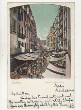 Napoli Mercato a Basso Porto 1907 U/B Postcard Italy 024b