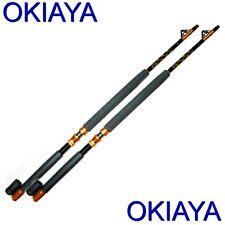 "Saltwater Fishing Rods 30-50Lb(2 Pack)Okiaya ""Slayer"" Poles For Penn Shimano"
