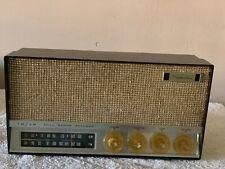 Vintage Silvertone AM|FM Table Brown Bakelite Radio Working   NICE Shape