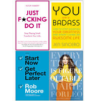 Everything is Figureoutable, Just F*cking Do It, You Are a Badass 4 Books Set