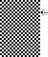 A4 checkered sheet 10mm Fun sticker self adhesive vinyl decal dub check flag