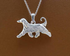 Small Sterling Silver Afghan Hound Pendant