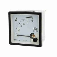 1×AC 5A Plastic Housing Analog Current Mounted Panel Meter Gauge XT-72 AC0-5A