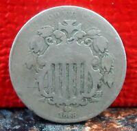 Nice 1868 Reverse of 1867 Shield Nickel