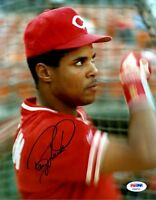BARRY LARKIN PSA/DNA SIGNED 1/1 ORIGINAL 8X10 PHOTO AUTHENTICATED AUTOGRAPH