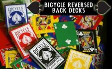 Reversed Back Bicycle Card Decks: Green / Blue / Black / Red / Yellow / Orange!