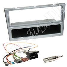 OPEL Combo C ab00 Autoradio DIN Radio Blende matt-chrom Quadlock ISO Adapter SET