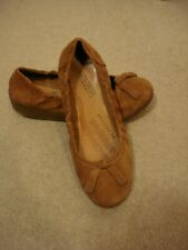 Fitflops tan brown ballet pump wedge heel shoes UK 5/38