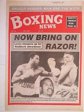 Boxing News 21 Aug 1992 Lewis-Dixon Nelson-Ekassi Peter Till,Oscar Ponce