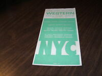 APRIL 1963 NEW YORK CENTRAL NYC WESTERN AREA FORM 200 PUBLIC TIMETABLE