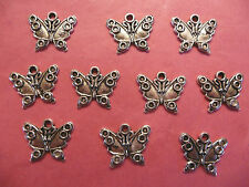 Tibetan Silver Butterfly Charms #5 - 10 per pack