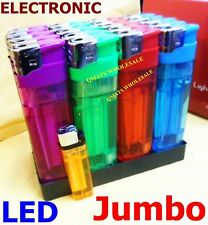 "5 pcs 6"" Jumbo Big Refillable Electronic Cigarette Lighters W/ Led Flashlight"