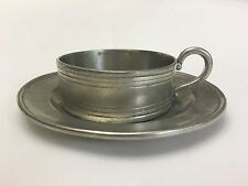 COSI TABELLINI Silverplate Saucer With Glass Insert 95 Pewter MADE IN ITALY