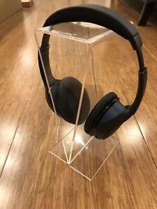 2x Melodika Crystal Clear Acrylic Over Ear Headphone Stand UK Stock