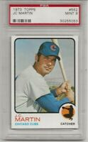 1973 TOPPS #552 JC MARTIN, PSA 9 MINT, CHICAGO CUBS, L@@K !