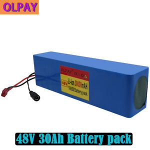 48V 30Ah Lithium li-ion Battery Pack 1000W Bicycle E Bike Electric charger Power