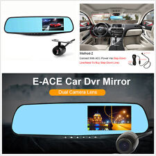 Dual Cam Vehicle Front Rear DVR Lens HD1080P Car DVR Dash Camera Video Recorder