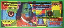 Mister E Benny Jr. $100 Bill Art Warhol Banksy Obey Shepard