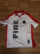 VINTAGE RARE CHICAGO FIRE SOCCER JERSEY L Large Polo