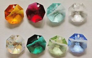 4 X Vintage Swarovski Strass OCTAGON Pendant Bead Prism #8115 14mm Many Colors!!