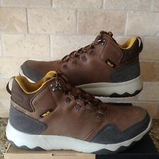 TEVA ARROWOOD LUX MID WP BROWN LEATHER TRAIL SNEAKER SHOES SIZE US 9 MENS NIB
