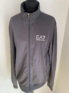 Emporio Armani Mens Grey Full Zip Tracksuit jacket Medium
