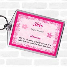 Etiqueta de nombre significado Bolsa Shiv Llavero Llavero rosa