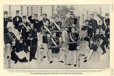 Ein volkstümlich japanischer Bilderbogen: Der Mikado mit seinen Paladinen v.1905