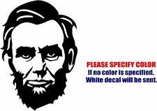 "President Abraham Lincoln Decal Sticker JDM Funny Vinyl Car Window Bumper 7"""