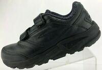 Brooks Addiction Walker V-Strap Walking Shoes Black Fitness Sneakers Mens 10.5 D
