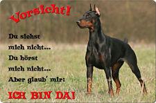 DOBERMANN - A4 Metall Warnschild SCHILD Hundeschild Alu Türschild - DBM 11 T2