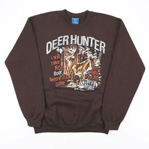 Vintage PURITAN  Brown Animals Crew Neck Sweatshirt Mens S