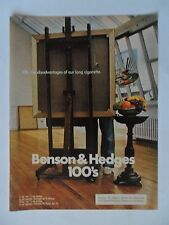 1976 Print Ad Benson & Hedges Cigarettes ~ Life Painter Disadvantage of Long
