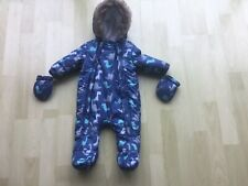 PRAM/SNOW SUIT 0-3 months used twice F+F excellent condition