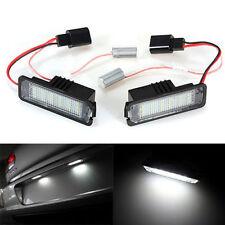 2x 18SMD LED Number License Plate Light Lamp For VW GOLF MK4 MK5 MK6 Passat Polo