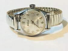 Vintage Ladies Jerlian 17Jewels Mechanical Windup Wrist Watch Shockproof(10528M)