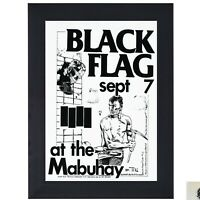 Black Flag Punk Rock Band at the Mabuhay Sept 7 print concert flyer poster Frame