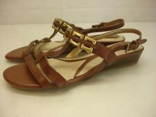 Womens 8.5 W Wide Naturalizer Jailene Brown Leather Sandals Slingback N5 Comfort
