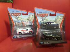 Lot of 2 Shu Todoroki #22 Disney Pixar Cars 2 & LEWIS HAMILTON #24 Mattel