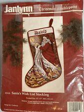 New listing Vintage Janlynn Santa'S Wish List Stocking needlepoint kit