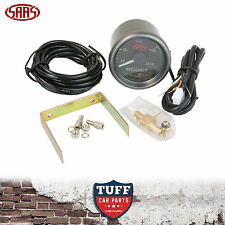 SAAS Turbo Diesel Boost Gauge Black Face Dial 52mm Multi Colour + Fitting Kit