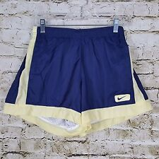 Nike Women's Size S 4 6 Pull On Shorts Track Running Basketball Blue Yellow