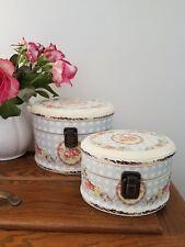 Decoupage Box - Oval Floral Decorative Box Set-Jewellery/Keepsake *Shabby & Chic